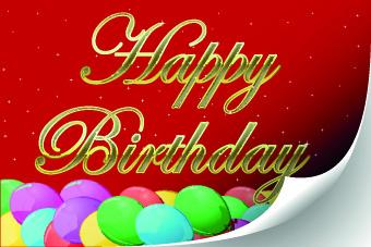 funny happy birthday vector background