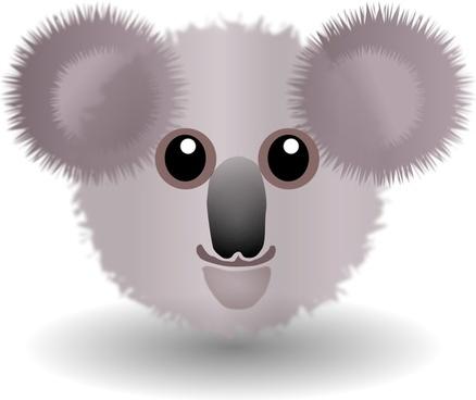Funny Koala Face Cartoon