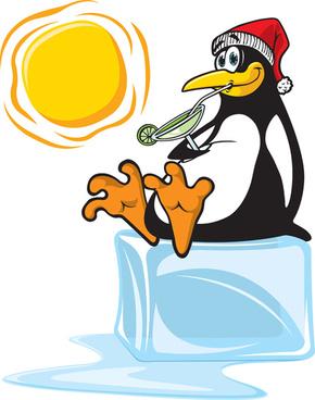 funny penguins design elements vector