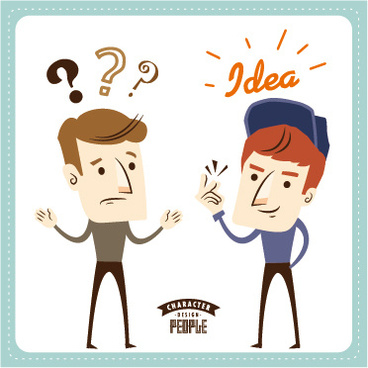 funny people business template vector