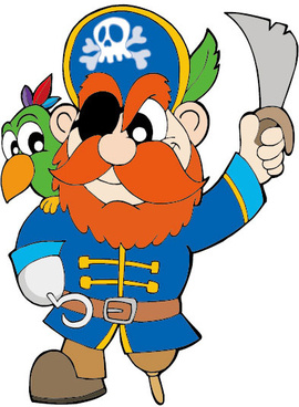funny pirate cartoon vector graphic