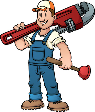 funny plumber design elements vector