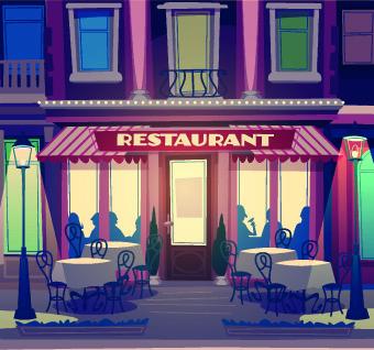 funny restaurant poster design vector