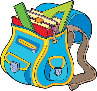 funny school bag design elements vector