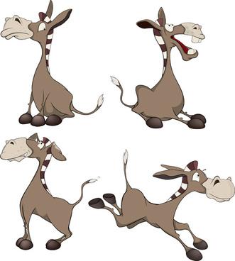 funny small donkey vector