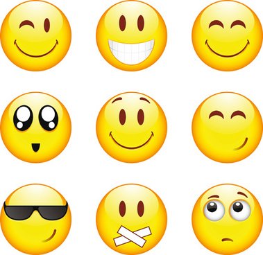 funny smile emoticons vector icon
