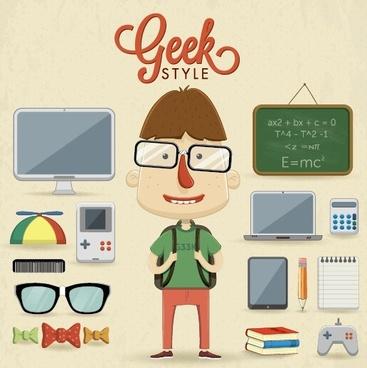 funny student design vector