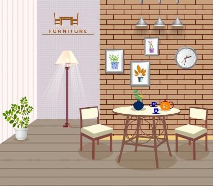 furniture advertisement cozy room decoration classical design