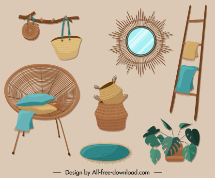 furniture icons rural vintage decor