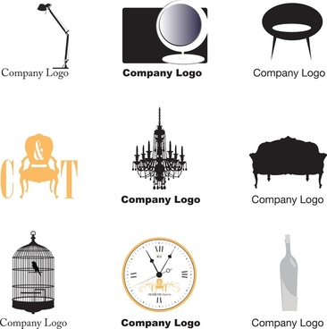 furniture logos vector