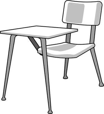 Furniture School Desk clip art
