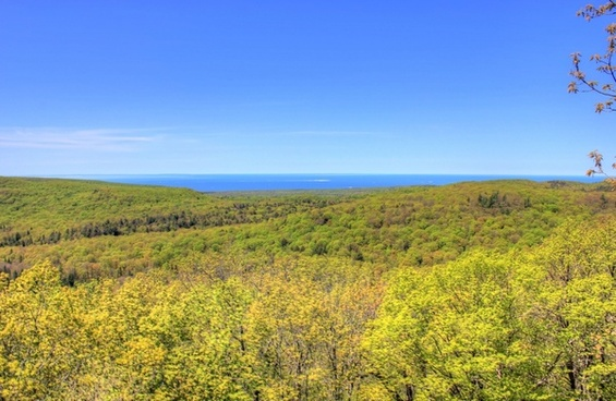 further view of the forest and superior at porcupine mountains state park michigan