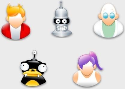 Futurama Sigma Style icons pack