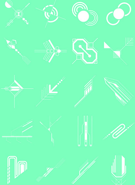 future concept shapes design vector