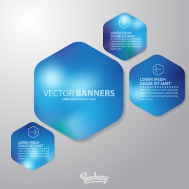 futuristic blue banners