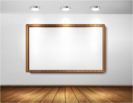 gallery and frame creative desgin vector