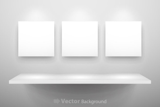 gallery display background 11 vector