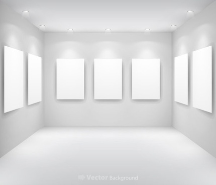 gallery display background 13 vector