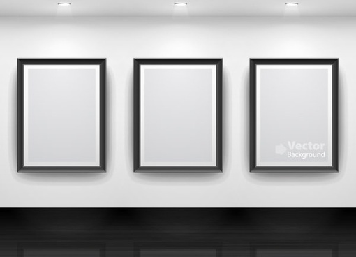 gallery display background 15 vector