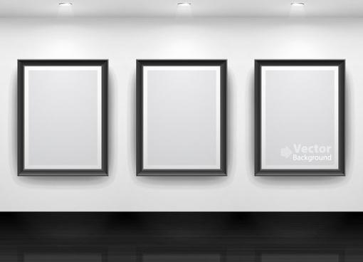 gallery display background 15 vector