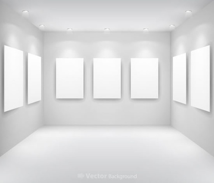 gallery shows the wall vector