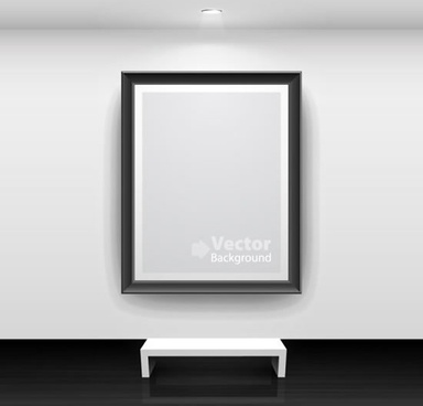 painting gallery room template elegant black white decor