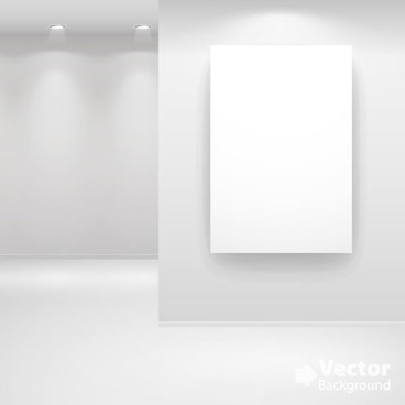 gallery room decor template luxury light 3d sketch