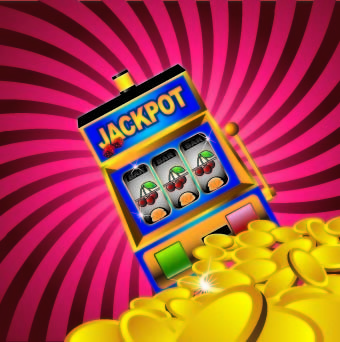 gambling jackpot design background vector