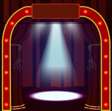 game show stage design bright neon gate decoration