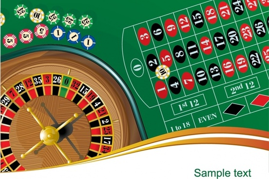 gambling advertising background roulette icon modern design