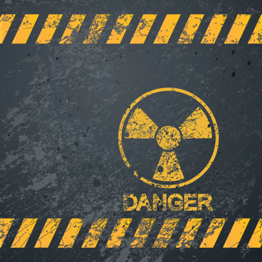 garbage danger warning elements vector