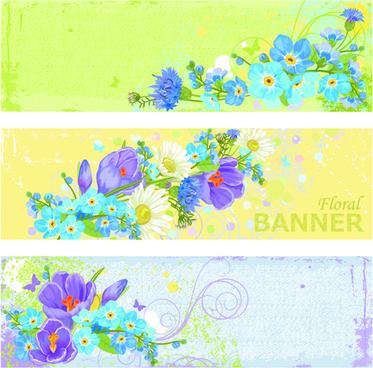 garbage floral banner vector