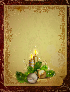 garbage vintage christmas vector backgrounds