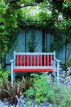 garden bench garden terrace