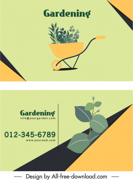 gardening business card template elegant classic bright decor