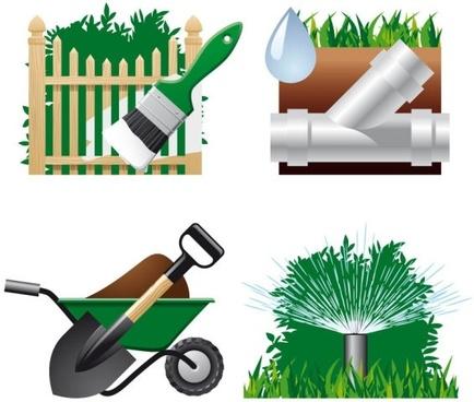 gardening theme 04 vector
