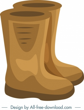 gardening tool background boots icons closeup brown design