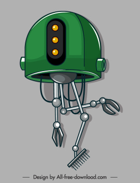 garderner robot icon modern multi tasks design