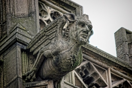 gargoyle cathedral manchester
