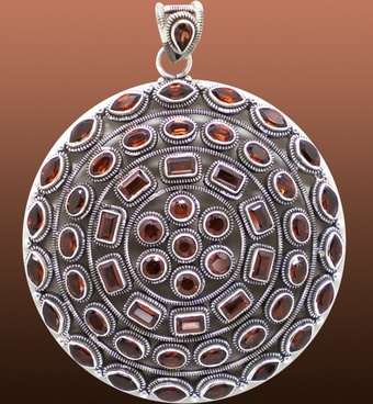 garnet ground jewellery