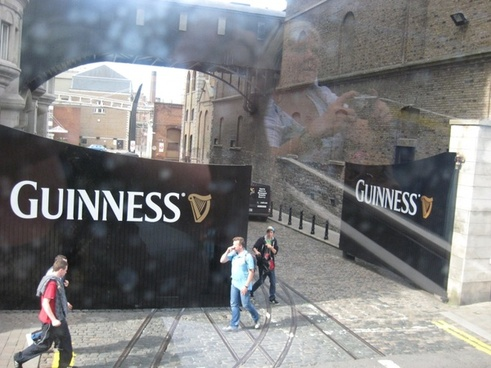 gates at guinness factory in dublin