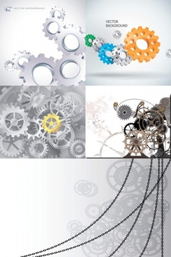 gear chains vector