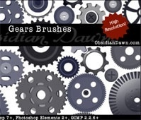 Gears Vectors Brushes