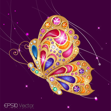 gem butterfly design