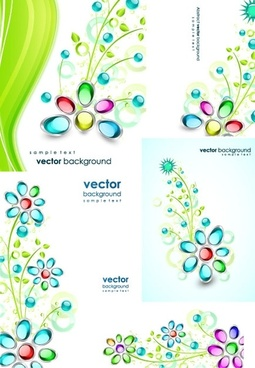 gem flowers vector