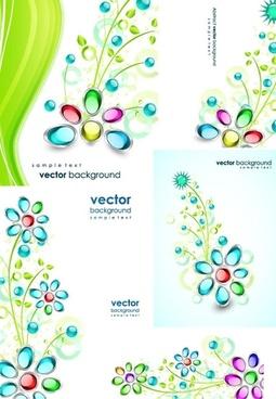 gem flowers vector