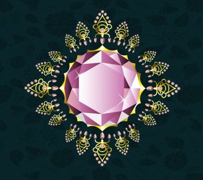 gemstone background shiny sparkling diamond icon