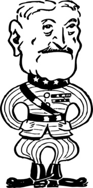 Gen John J Pershing clip art