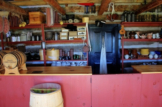 general store at fort wilkens state park michigan