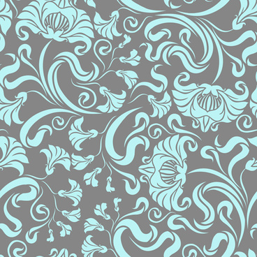 Vintage floral seamless pattern free vector download (30,145
